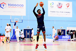 Levi Bradley of Bristol Flyers warms up prior to tip off - Photo mandatory by-line: Ryan Hiscott/JMP - 17/01/2020 - BASKETBALL - SGS Wise Arena - Bristol, England - Bristol Flyers v London City Royals - British Basketball League Championship