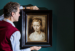 A beautiful and intimate family portrait by one of the greatest of all seventeenth-century artists will be on display at the Scottish National Gallery in Edinburgh between 17 November 2017 and 28 January 2018. Portrait of the Artist&rsquo;s Daughter, Clara Serena by Sir Peter Paul Rubens (1577-1640) was probably painted about 1623, not long before the sitter&rsquo;s tragically early death at the age of 12. This charming painting, which, after cleaning, has only recently been unanimously accepted as being by Rubens, has never before been shown in the UK.<br /> <br /> Pictured: Tico Seifert, Senior Curator for Northern European Art at the Gallery with Portrait of the Artists Daughter, Clara Serena