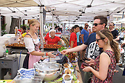 Australians celebrate Australia Day at The Rocks, Sydney, Australia..26th Jan 2013.Aussie food markets on Australia Day