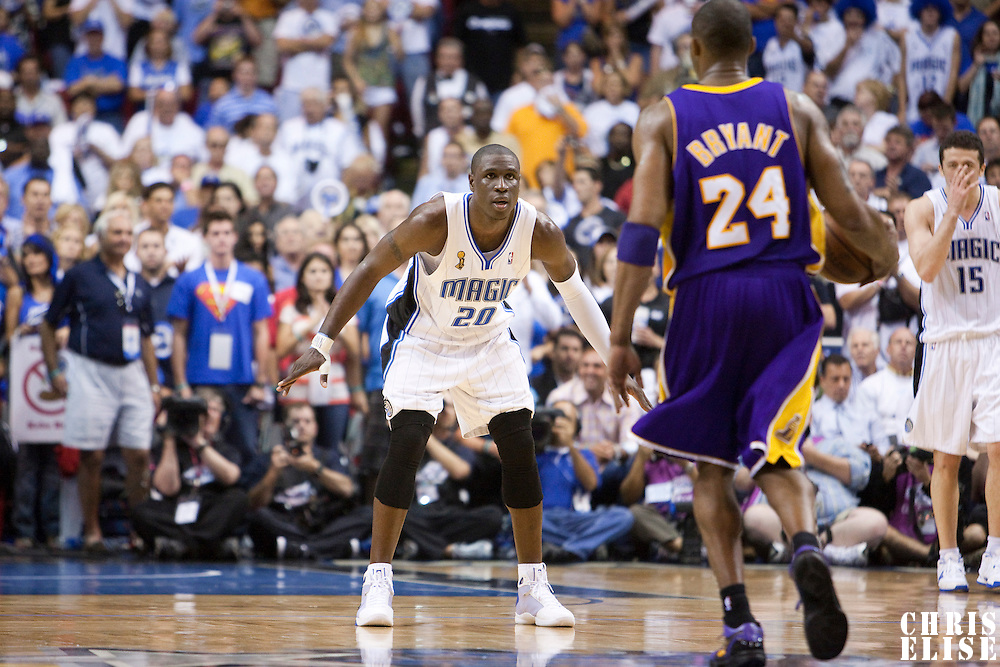 NBA - PLAYOFFS NBA 2008/2009 - LOS ANGELES LAKERS V ORLANDO MAGIC - GAME 3 -  ORLANDO (USA) - 09/06/2009 - .MICKAEL PIETRUS (MAGIC)