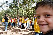 Divinopolis_MG, Brasil..Rosto de uma crianca no Parque do Gafanhoto em Divinopolis. ..The child face in the Gafanhoto Park in Divinopolis...Foto: LEO DRUMOND / NITRO
