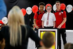 Bristol City first team players Bobby Reid and Joe Bryan attend the Bristol City Junior Supporters Club Presentation Evening in the Dolman Concourse at Ashton Gate - Mandatory byline: Rogan Thomson/JMP - 02/07/2016 - FOOTBALL - Ashton Gate Stadium - Bristol, England.