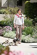 Senior Woman Walking her Dog