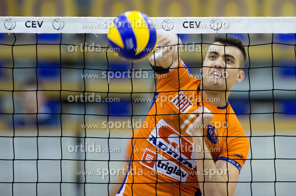 Stipe Juric of ACH during volleyball match between ACH Volley Ljubljana and GO Volley Nova Gorica in 11th Round of 1. DOL 2014/15, on November 13, 2014 in Hala Tivoli, Ljubljana, Slovenia. Photo by Vid Ponikvar / Sportida