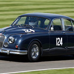 GOODWOOD REVIVAL.....Andy Wallace in a 1960 Jaguar Mk2 in the official practice for the St. Mary's Trophy ..(c) STEPHEN LAWSON | SportPix.org.uk