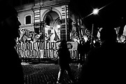 'Walk for safety', event organized by Casapound after a woman  rape in the Esquilino district of Rome on 15 Febraury 2018. Christian Mantuano / OneShot