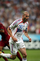 Jul 05, 2006; Munich, GERMANY; ZINEDINE ZIDANE during the FIFA World Cup 2006 semi final match between France and Portugal on Jul. 5, 2006. France won the match and will play Italy in the final game on Sunday, Jul. 9, 2006. Mandatory Credit: Photo by Alain Mounic/FEP/Panoramic/ZUMA Press. (©) Copyright 2006 by Panoramic