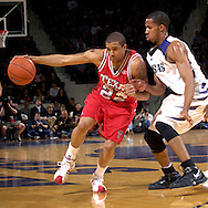 Texas Tech guard Jarrius Jackson (22) drives against pressure from Kansas State guard Clent Stewart (R) in the first half at Bramlage Coliseum in Manhattan, Kansas, January 8, 2007.  Texas Tech beat K-State 62-52.