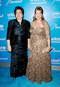 Caryl Stern and Christine Stonbely pose at the 2009 UNICEF Snowflake Ball Arrivals in New York City on December 2, 2009.