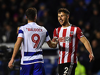 Football - 2019 / 2020 Emirates FA Cup - Fifth Round: Reading vs. Sheffield United<br /> <br /> Sheffield United's George Baldock with brother Reading's Sam Baldock at the final whistle, at the Madejski Stadium.<br /> <br /> COLORSPORT/ASHLEY WESTERN