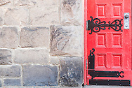 Covallite Theatre, Butte Montana, uptown, red, door