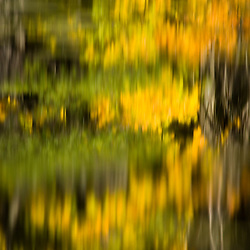 Fall reflections in Upper Mill Pond at the Ewell Reservation in Rowley, Massachusetts