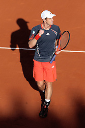 Andy Murray competing in the French Open, at Roland Garros, Paris , Tuesday, 29th May, 2012 , Photo by: Imago / i-Images