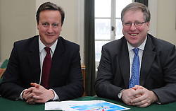 Leader of the Conservative Party David Cameron with Patrick McLoughlin.Member of Parliament for Derbyshire Dales in his office in Norman Shaw South, January 18, 2010. Photo By Andrew Parsons / i-Images.