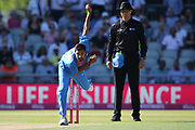 Bhuvneshwar Kumar during the International T20 match between England and India at Old Trafford, Manchester, England on 3 July 2018. Picture by George Franks.