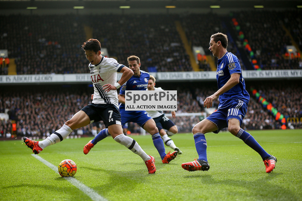 Heung Min Son attempts a backheel During Tottenham Hotspur vs Chelsea on Sunday the 29th November 2015.