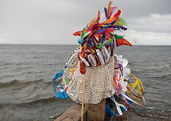 Across Portobello, Edinburgh artists artists revealed their work to the public for the start of this weekend's Art Walk Porty. A mixture of open studios, pop-up exhibition spaces, artists market and site-specitic art all over the Edinburgh suburb this weekend. The event runs from Fri-Sun Sept 2nd-4th 2016. Pictured: Sea monster Cirein Croin by Fiona Hermae, working with Leonard Cheshire Disability. <br /> <br /> <br /> © Jon Davey/ EEm