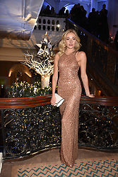 Clara Paget at reception to celebrate the launch of the Claridge's Christmas Tree 2017 at Claridge's Hotel, Brook Street, London England. 28 November 2017.<br /> Photo by Dominic O'Neill/SilverHub 0203 174 1069 sales@silverhubmedia.com