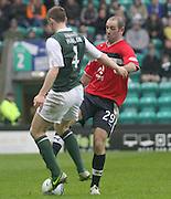 Paul Hanlon and Gary Harkins  - Hibernian v Dundee - Clydesdale Bank Scottish Premier League at Easter Road.. - © David Young - www.davidyoungphoto.co.uk - email: davidyoungphoto@gmail.com