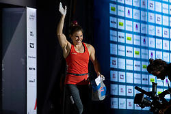 Petra Klingler of Switzerland during Women's bouldering Final at the IFSC Climbing World Championships Innsbruck 2018, on September 14, 2018 in OlympiaWorld Innsbruck, Austria, Slovenia. Photo by Urban Urbanc / Sportida