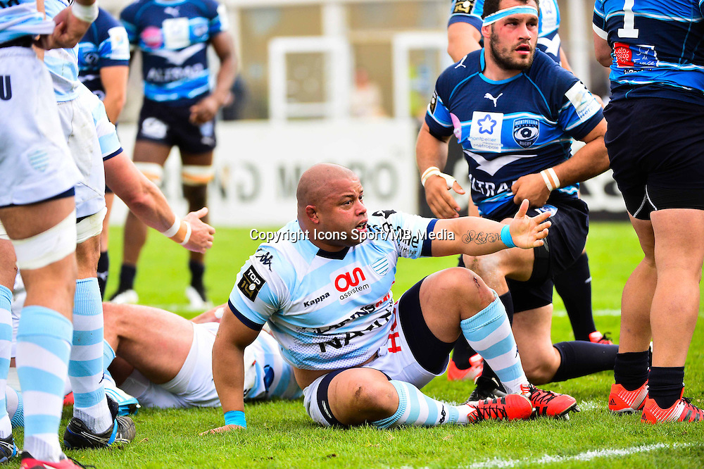 Luc DUCALCON  - 11.04.2015 - Racing Metro / Montpellier  - 22eme journee de Top 14 <br />