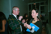 FERGUS HENDERSON AND LYN ROTHMAN, Meeting of Minds in aid of the Parkinson's Appeal for Deep Brain Stimulation at Christie's. Party afterwards at St. John restaurant. 16 October 2007.  -DO NOT ARCHIVE-© Copyright Photograph by Dafydd Jones. 248 Clapham Rd. London SW9 0PZ. Tel 0207 820 0771. www.dafjones.com.