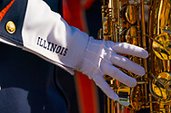 Illinois band member during Nebraska's game vs. Rutgers at Memorial Stadium in Lincoln, Neb., on Sept. 23, 2017. Photo by Aaron Babcock, Hail Varsity
