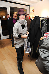 LUCY BIRLEY at a private view of photographs by Nick Ashley held at the Sladmore Gallery, 32 Bruton Place, London on 13th January 2010.