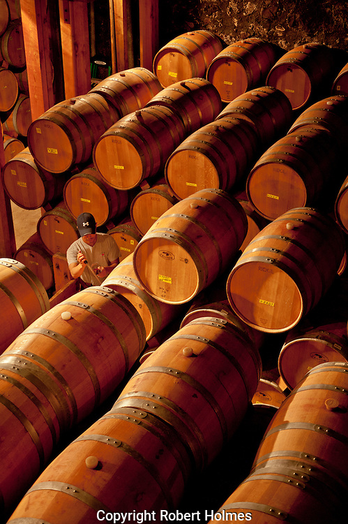 Barrel room at Ridge Vineyards, Santa Cruz Mountains, Cupertino, California