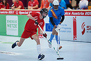 Graz, Austria - 2017 March 17: SO Austria compete with SO Bharat (India) in Floor Hockey while Special Olympics World Winter Games Austria 2017 at Messe Graz on March 17, 2017 in Graz, Austria.<br /> <br /> Mandatory credit:<br /> Photo by © Adam Nurkiewicz / Mediasport<br /> <br /> Adam Nurkiewicz declares that he has no rights to the image of people at the photographs of his authorship.<br /> <br /> Picture also available in RAW (NEF) or TIFF format on special request.<br /> <br /> Any editorial, commercial or promotional use requires written permission from the author of image.<br /> <br /> Image can be used in the press when the method of use and the signature does not hurt people on the picture.