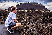 Contemplative thought amidst the beauty at Lava Land and Lava Butte, near Bend, OR