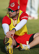 Dillon du Preez during the Royal Challengers Bangalore training session held at Kingsmead Stadium in Durban on the 23 September 2010..Photo by: Steve Haag/SPORTZPICS/CLT20.