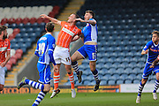 GOAL Ashley Eastham scores 1-0 during the Sky Bet League 1 match between Rochdale and Blackpool at Spotland, Rochdale, England on 16 April 2016. Photo by Daniel Youngs.
