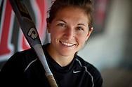 (Cambridge, MA - April 23, 2010) Harvard senior Melissa Schellberg, plays third base and is captain of the Crimson softball team.  Staff Photo Justin Ide/Harvard University News Office