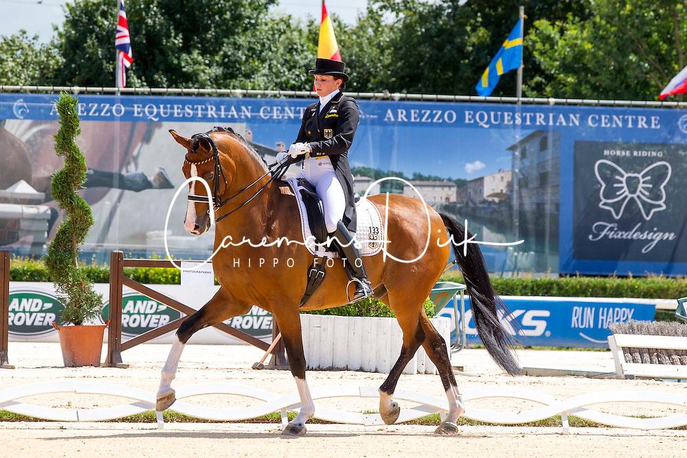 Klossinger Lisa-Maria (GER) - FBW Daktari<br /> European Championships Dressage Junior and Young Riders 2014<br /> &copy; Hippo Foto - Leanjo de Koster