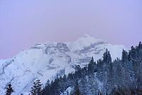 Banff ski trip. Banff Village at dusk.   ©2019 Karen Bobotas Photographer