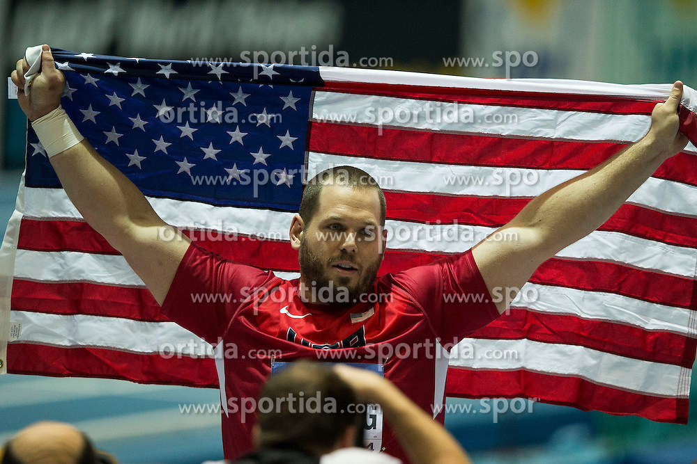 07.03.2014, Ergo Arena, Sopot, POL, IAAF, Leichtathletik Indoor WM, Sopot 2014, Tag 1, im Bild RYAN WHITING // RYAN WHITING during day one of IAAF World Indoor Championships Sopot 2014 at the Ergo Arena in Sopot, Poland on 2014/03/07. EXPA Pictures © 2014, PhotoCredit: EXPA/ Newspix/ Radoslaw Jozwiak<br /> <br /> *****ATTENTION - for AUT, SLO, CRO, SRB, BIH, MAZ, TUR, SUI, SWE only*****