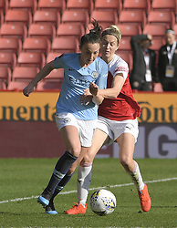 February 23, 2019 - Sheffield, England, United Kingdom - Carooine Weir manhandled during the  FA Women's Continental League Cup Final  between Arsenal and Manchester City Women at the Bramall Lane Football Ground, Sheffield United FC Sheffield, Saturday 23rd February. (Credit Image: © Action Foto Sport/NurPhoto via ZUMA Press)