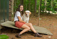 Claudia Cantin senior portrait session at Lake Winnisquam.  ©2018 Karen Bobotas Photographer