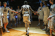 SOUTH BEND, IN - DECEMBER 22: Jerian Grant #22 of the Notre Dame Fighting Irish is seen during introductions before the game against the Northern Illinois Huskies at Purcell Pavilion on December 22, 2014 in South Bend, Indiana. (Photo by Michael Hickey/Getty Images) *** Local Caption *** Jerian Grant