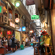 Centre Place, Melbourne, lined with cafes and fashionable boutiques.