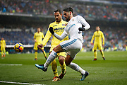 Real Madrid's Spanish midfielder Isco vies for the ball during the Spanish championship Liga football match between Real Madrid and Villarreal on January 13, 2018 at Santiago Bernabeu stadium in Madrid, Spain - Photo Benjamin Cremel / ProSportsImages / DPPI