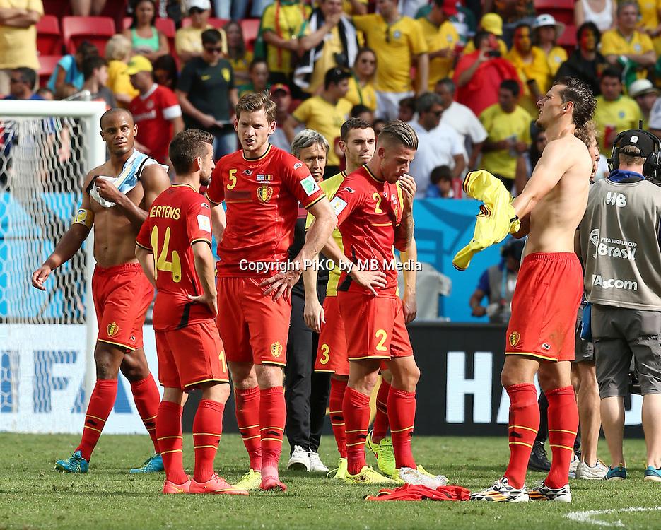 Fifa Soccer World Cup - Brazil 2014 - <br /> ARGENTINA (ARG) Vs. BELGIUM (BEL) - Quarter-finals - Estadio Nacional Brasilia -- Brazil (BRA) - 05 July 2014 <br /> Here Belgian players after loss the match<br /> &copy; PikoPress