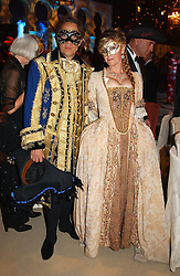The EARL & COUNTESS OF MARCH & KINRARA at the 2004 Goodwood Revival ball this year theme was a Venetian Masked Ball, held at Goodwood Motor Racing circuit, West Sussex on 4t September 2004.