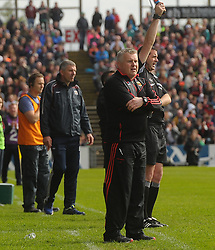 Stephen Rochford watches on during the closing stages of the Connacht Championship clash against Galway.<br /> Pic Conor McKeown