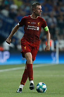 ISTANBUL, TURKEY - AUGUST 14: Jordan Henderson of Liverpool in action during the UEFA Super Cup match between Liverpool and Chelsea at Vodafone Park on August 14, 2019 in Istanbul, Turkey. (Photo by MB Media/Getty Images)