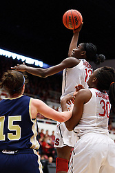 March 19, 2011; Stanford, CA, USA; Stanford Cardinal forward Chiney Ogwumike (13) shoots against the UC Davis Aggies during the first half of the first round of the 2011 NCAA women's basketball tournament at Maples Pavilion.