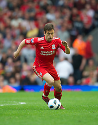LIVERPOOL, ENGLAND - Saturday, April 23, 2011: Liverpool's Joe Cole in action against Birmingham City during the Premiership match at Anfield. (Photo by David Rawcliffe/Propaganda)