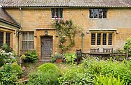 The 15th century manor house at Lambrook Manor Gardens, South Petherton, Ilminster, Somerset, UK