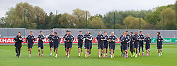 NEWPORT, WALES - Wednesday, October 8, 2014: Wales players training at Dragon Park National Football Development Centre ahead of the UEFA Euro 2016 qualifying match against Bosnia and Herzegovina. (Pic by David Rawcliffe/Propaganda)